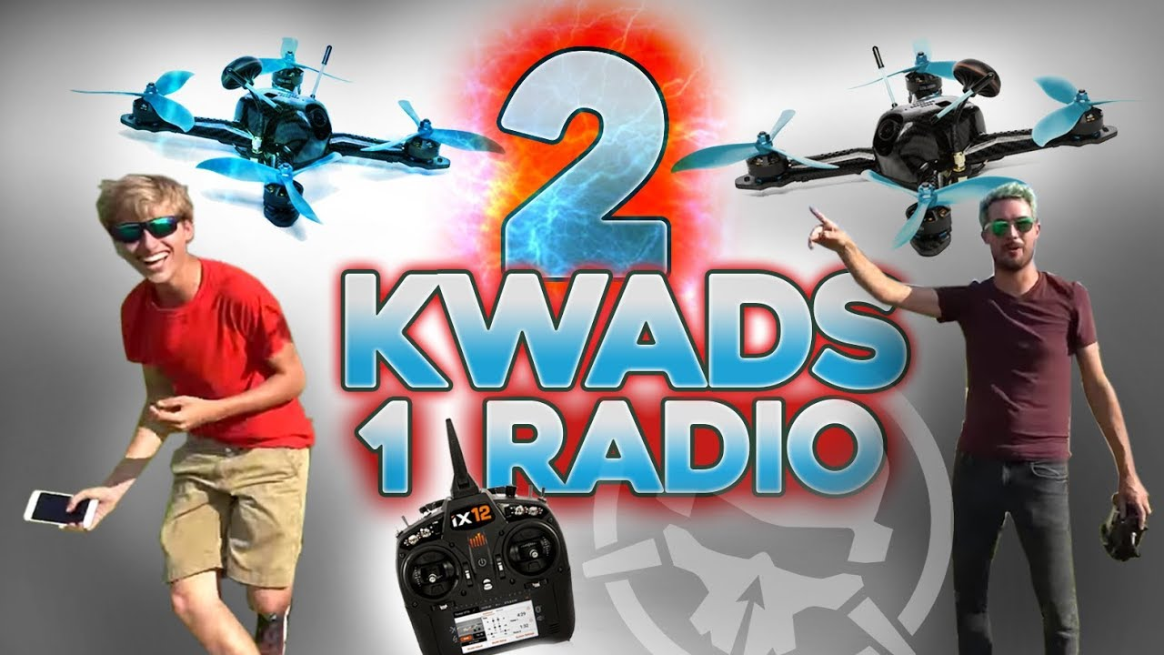 One Pilot Flies TWO Kwads!