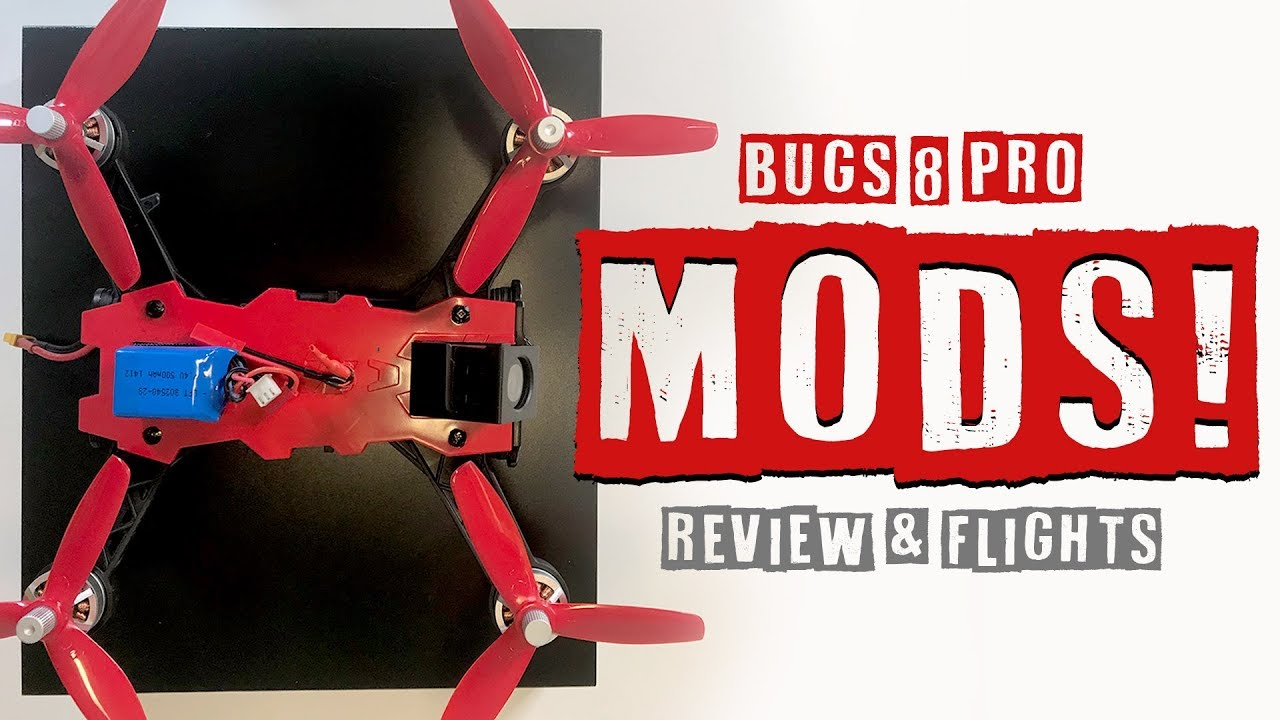 MJX RC Bugs Pro – NEW MODS! – Firefly Cam, Review, Flights, Pros & Cons
