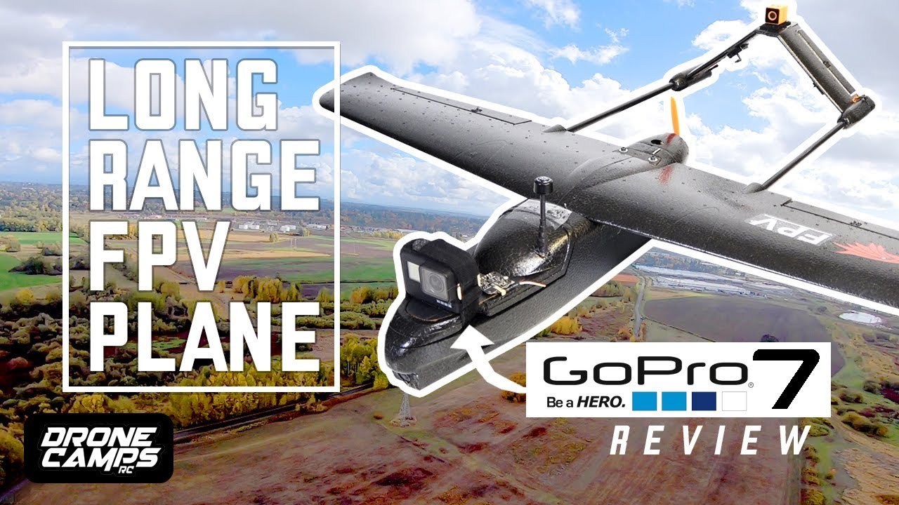 LONG RANGE FPV PLANE – $108 Skyhawk Fpv Plane – FULL REVIEW, FPV, and GOPRO HERO 7 Flights