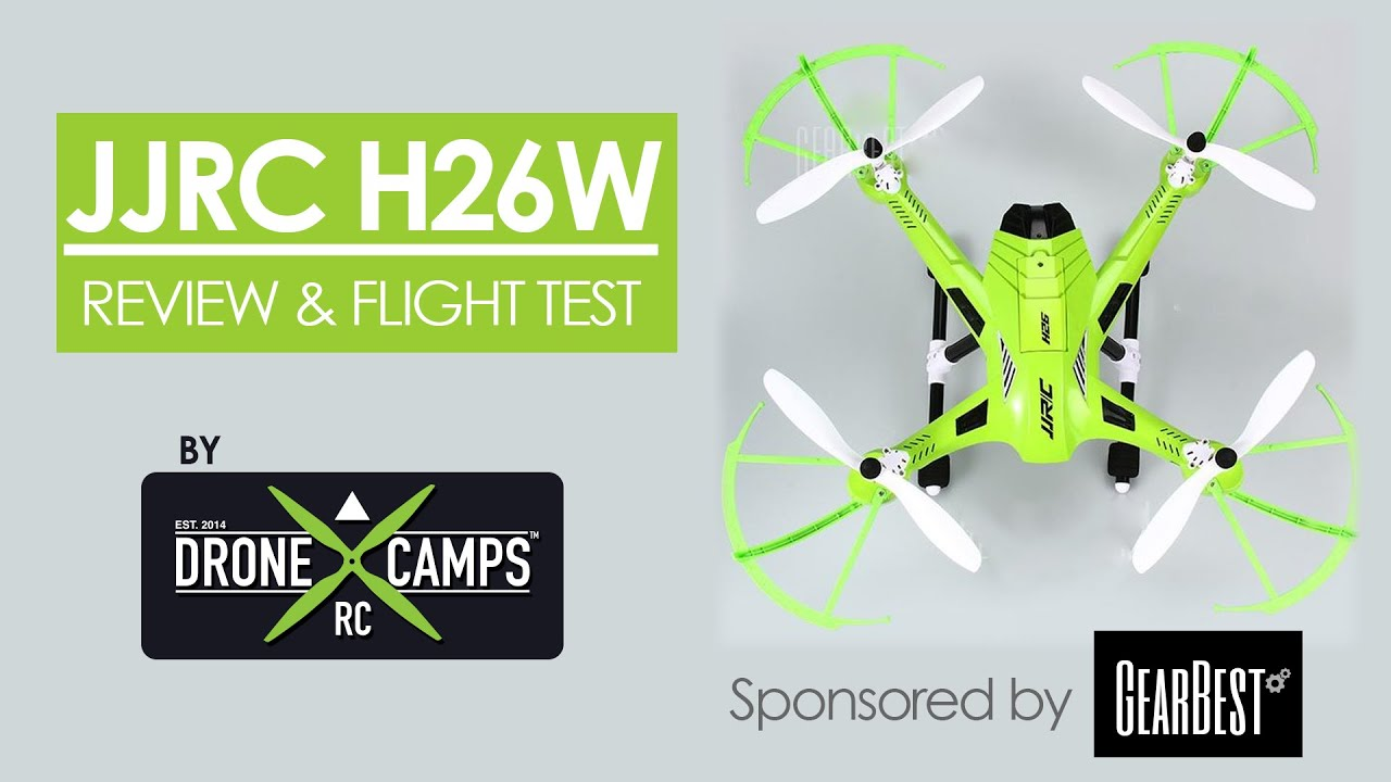 JJRC Wifi H26w Review Setup & Flight Test ( Courtesy of Gearbest.com )