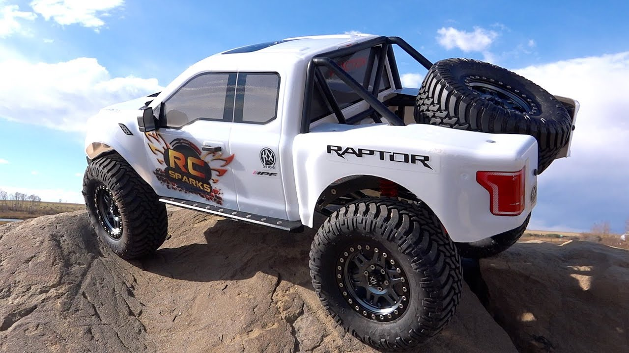 "FORD RAPTOR F150 (Stock) on the Rocks  – 8th scale Trail Truck ""Traction Hobby"" 