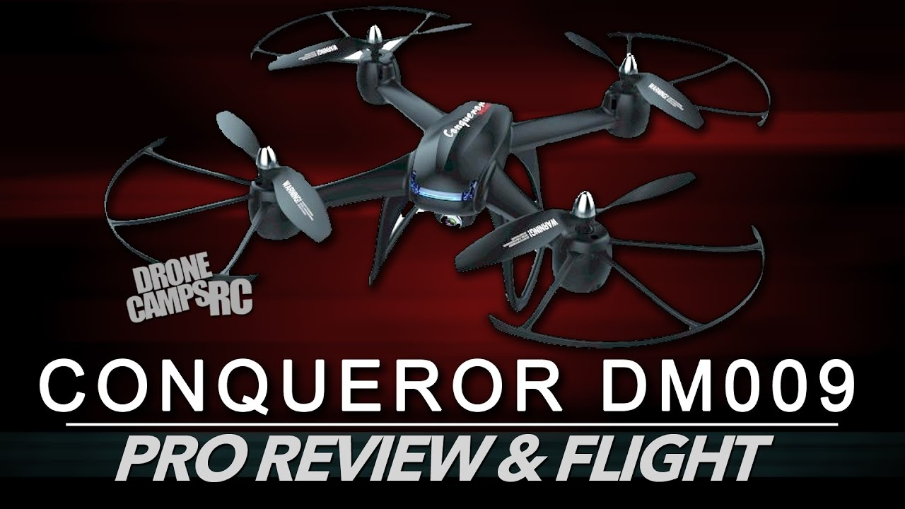 Conqueror DM009 Quadcopter – 1080p HD FLIGHT & REVIEW/CRASH