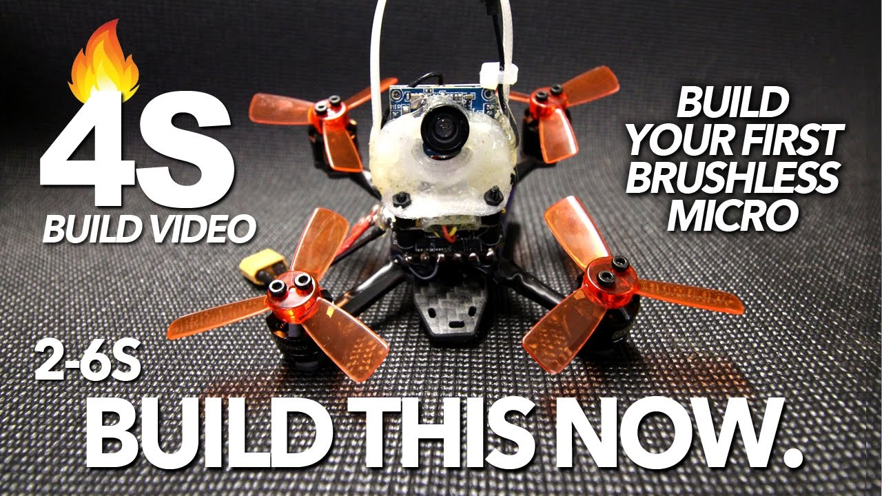 4S BRUSHLESS MICRO – BUILD VIDEO & FLIGHT