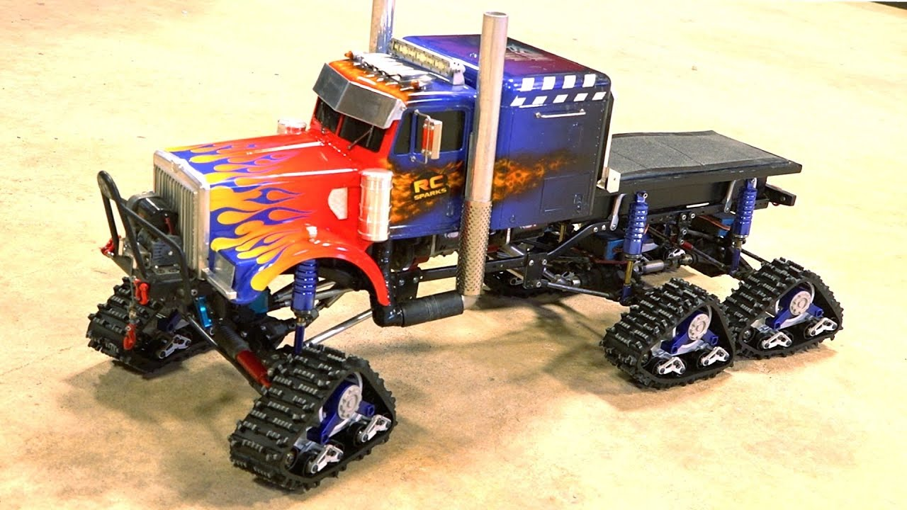 6X6X6 OPTIMUS OVERKILL SEMI TRUCK SPORTS TRACKS! Install Video – 1/10 scale | RC ADVENTURES