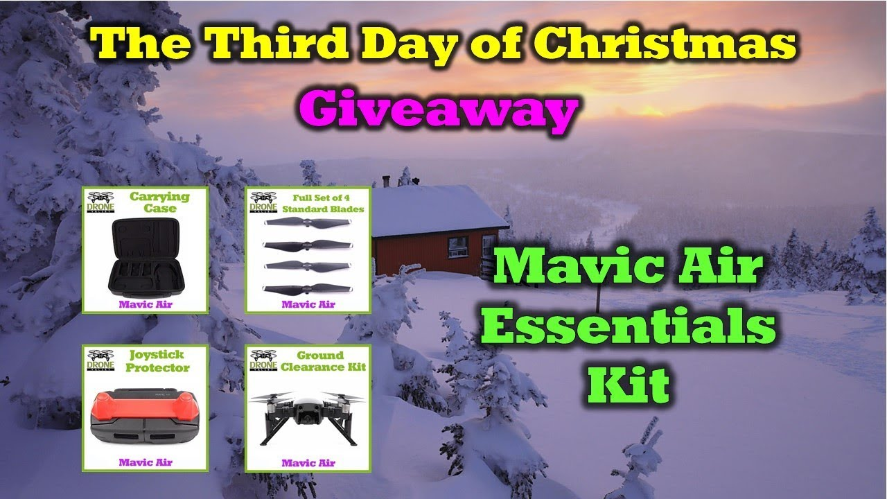 Mavic Air Goodies –  Day 3 of the 12 Days of Drone Valley Christmas Giveaways