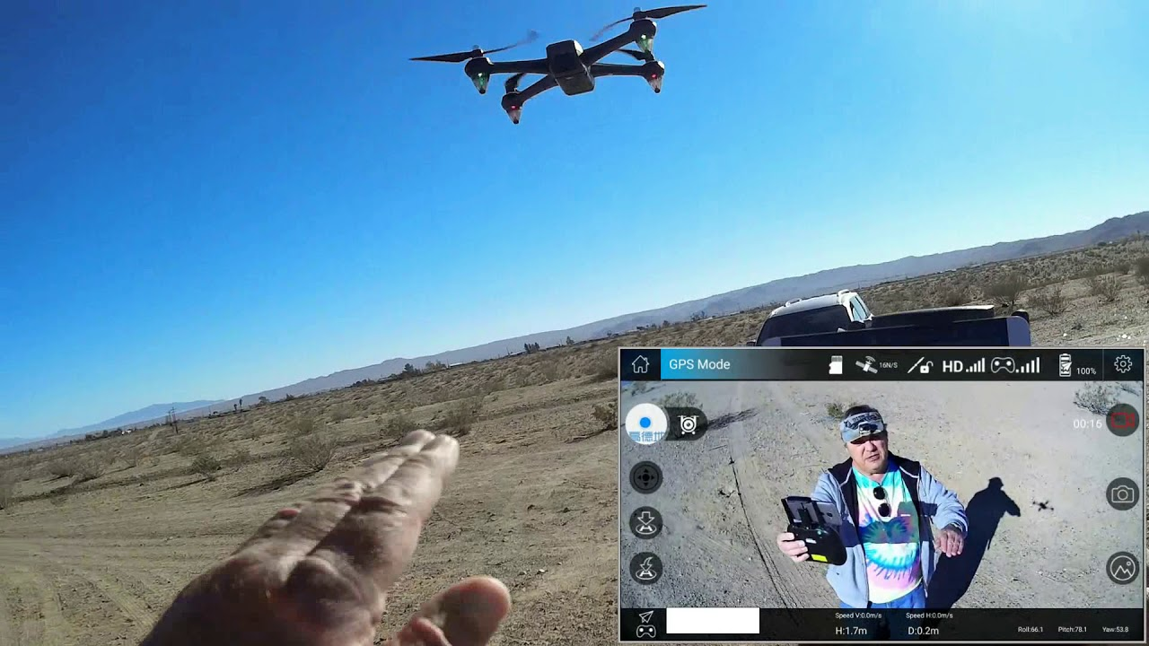 Potensic D60 GPS 1080p Camera Drone with Single Axis Gimbal Flight Test Review