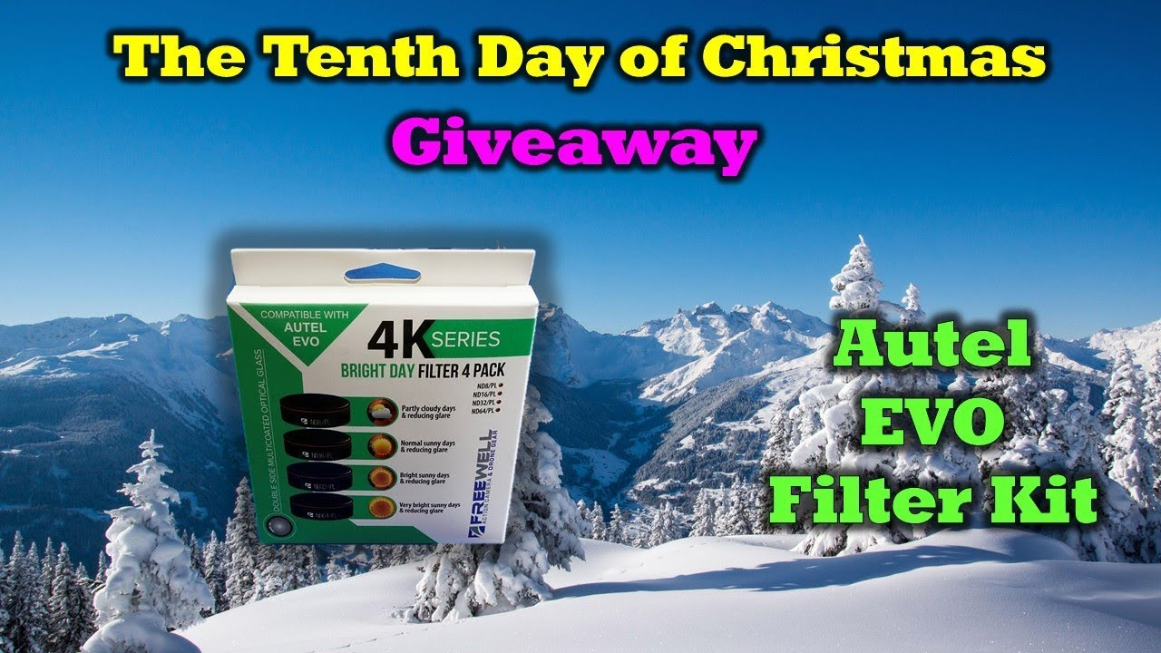 Free Autel EVO Freewell Filters –  Day 10 in Our 12 Days of Drone Valley Christmas Giveaways