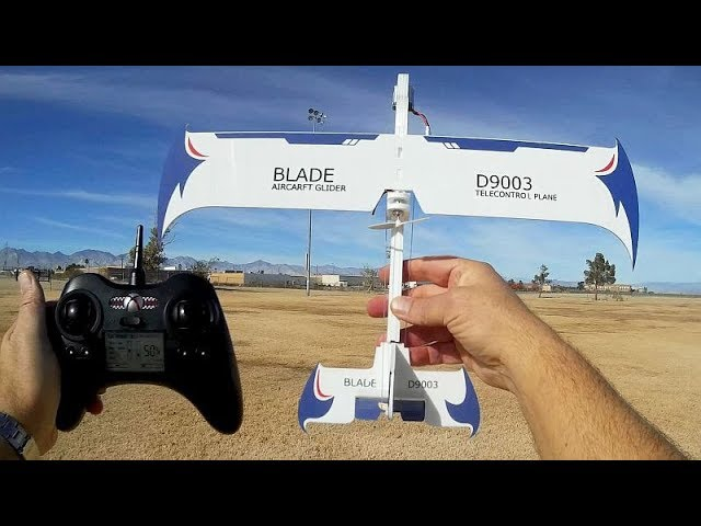 D9003 Blade Three Channel RC Airplane Flight Test Review