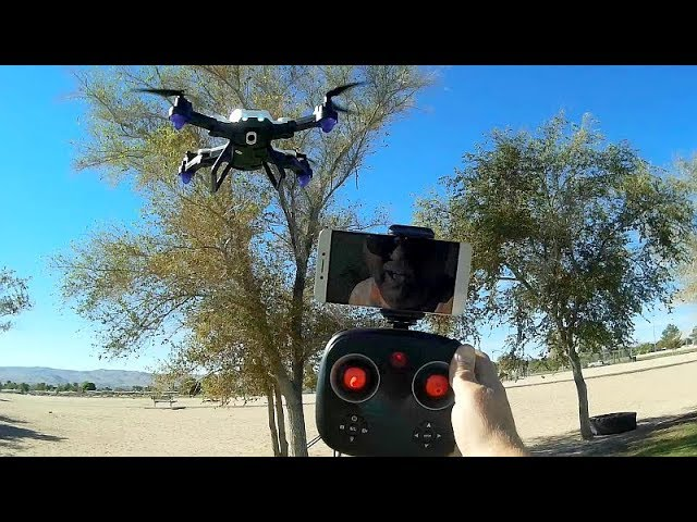 F-22G Folding Optical Flow FPV Camera Drone Flight Test Review