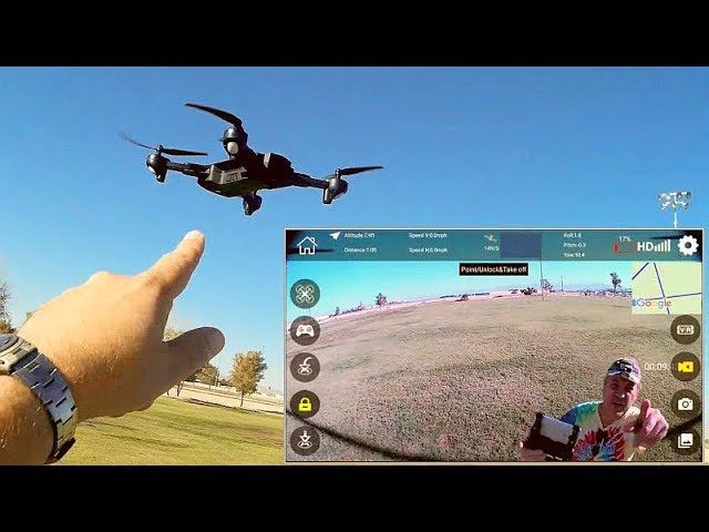SG900-S GPS FPV Camera Drone Flight Test Review
