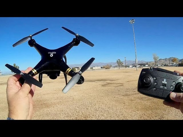 HY-83 GPS Follow Me Circle and Waypoints Camera Drone Flight Test Review
