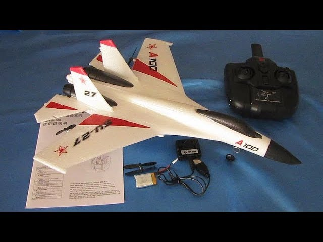 SU-27 XK A100 Three Channel RC Airplane Flight Test Review