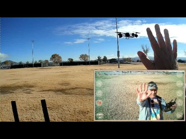 KF600 FPV Drone Optical Position Hold Gesture Control Flight Test Review