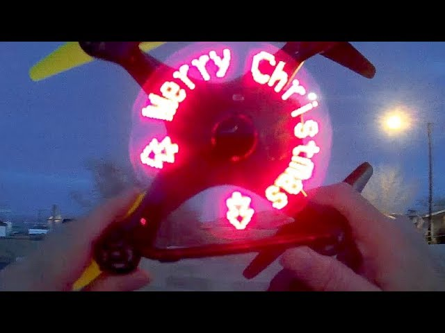DWI X35 LED Message Drone Flight Test Review