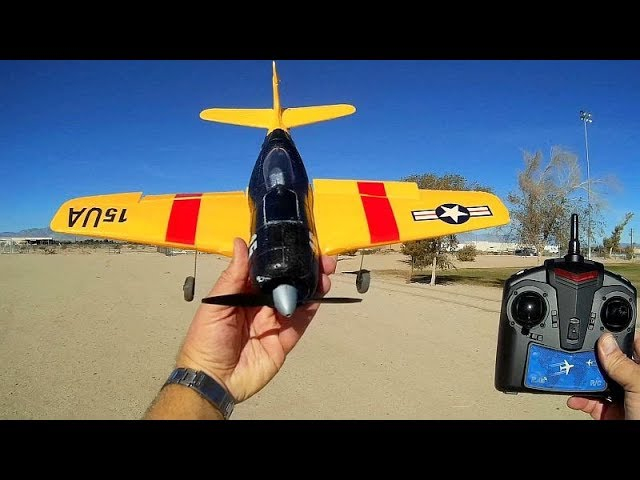 Tian Sheng TS866 F6F Hellcat Stabilized RC Aircraft Flight Test Review