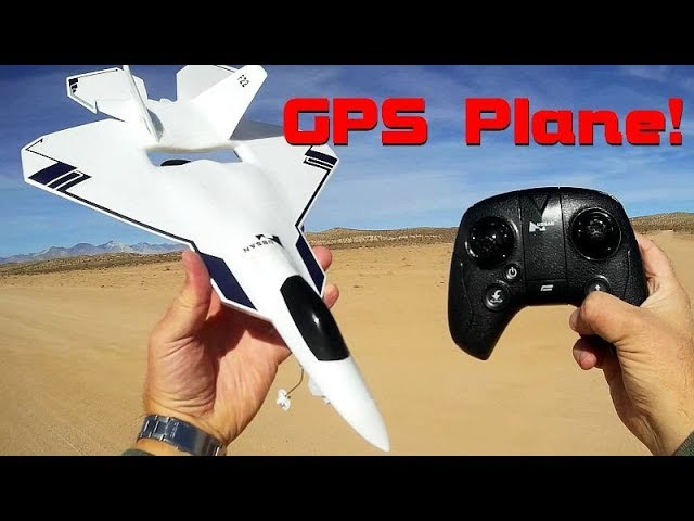 Hubsan F22 GPS 5.8Ghz FPV Brushless RC Airplane Flight Test Review