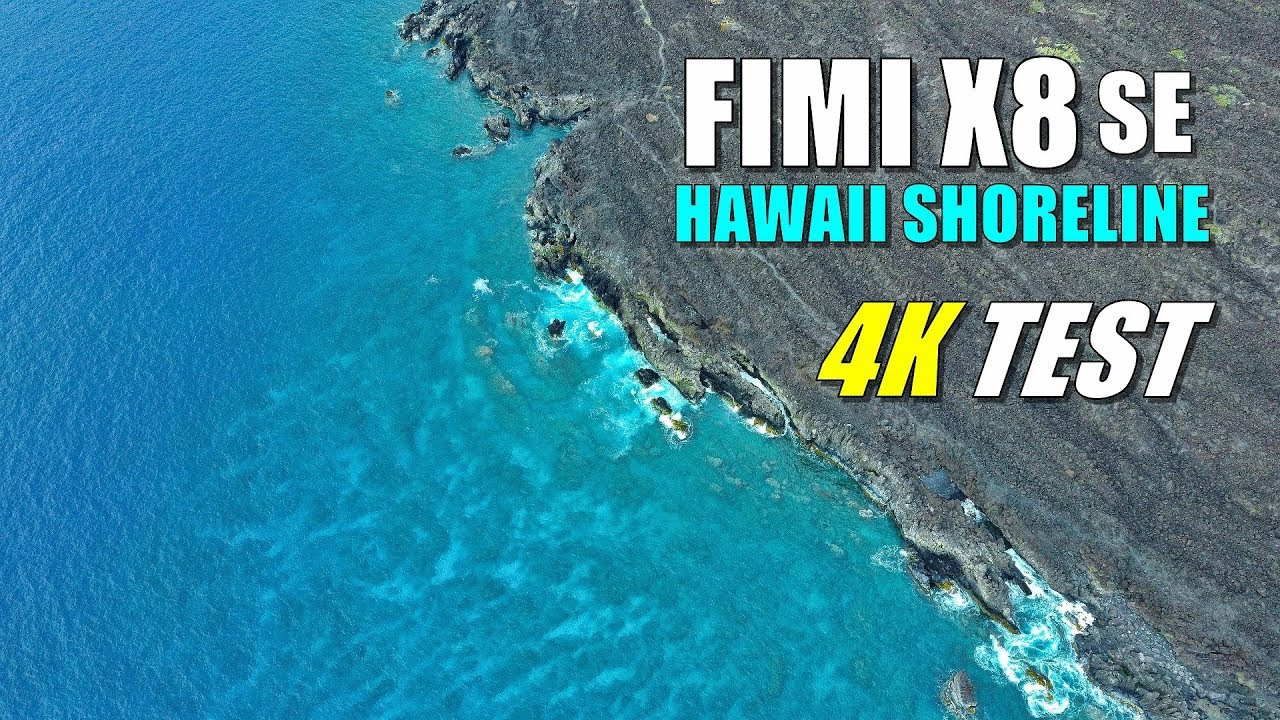 FIMI X8 SE Drone Review – 4K Cinematic Video Sample of MAUI Hawaii Shoreline Footage