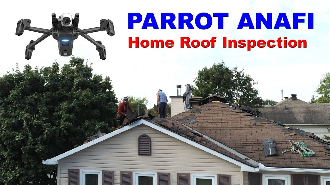 PARROT ANAFI – Home Roof Inspection Drone – Drone Review