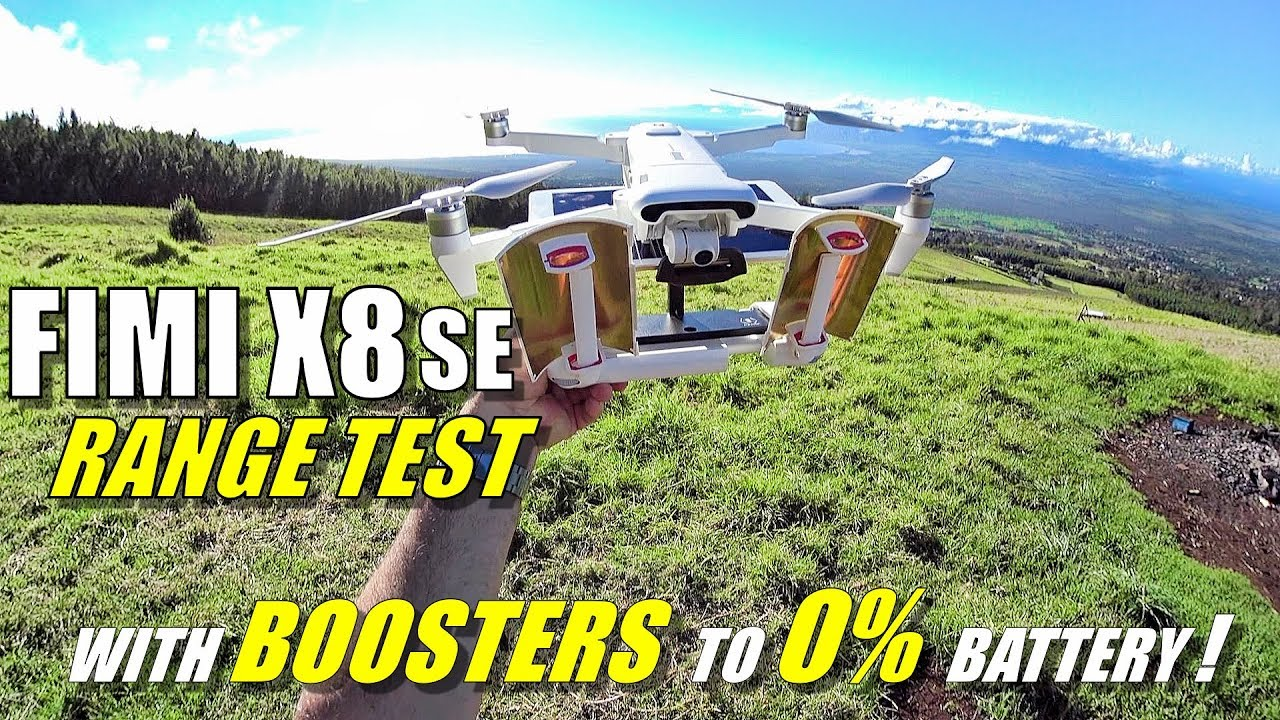 FIMI X8 SE Max Range Test WITH BOOSTERS To 0% Battery! – How