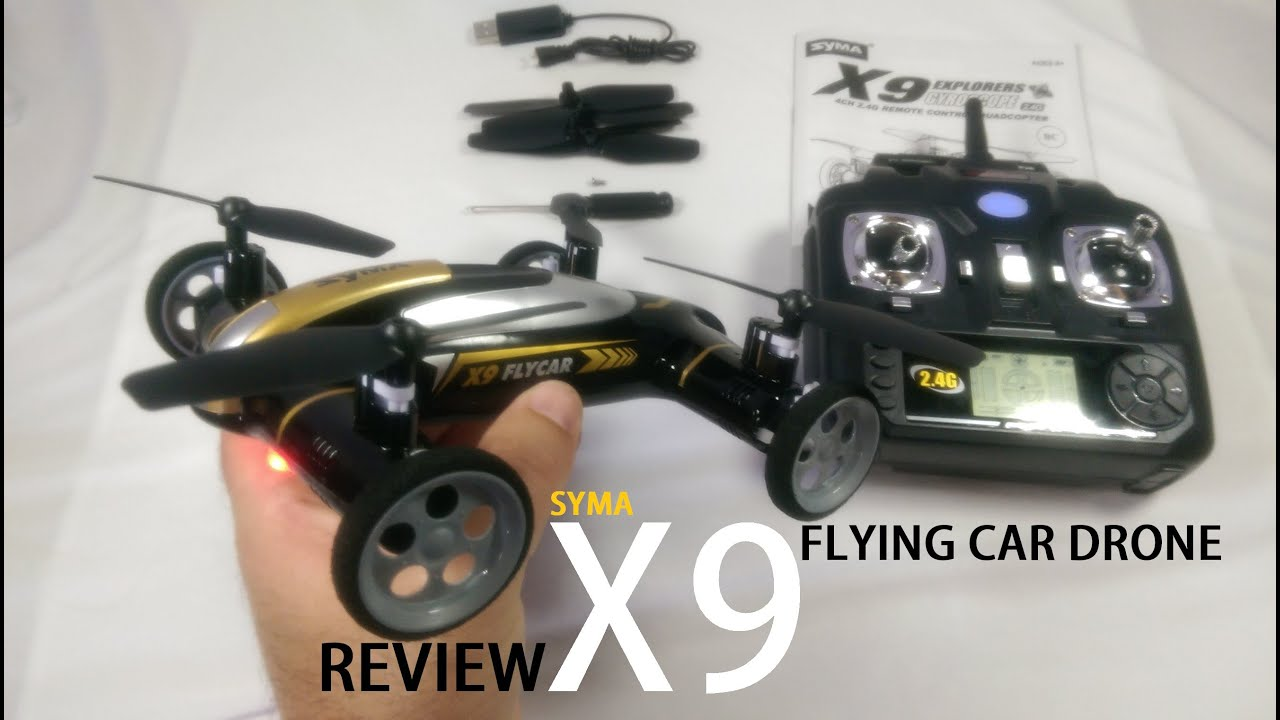 SYMA X9 Flying Car Drone Review – [UnBox, Inspection, Setup]