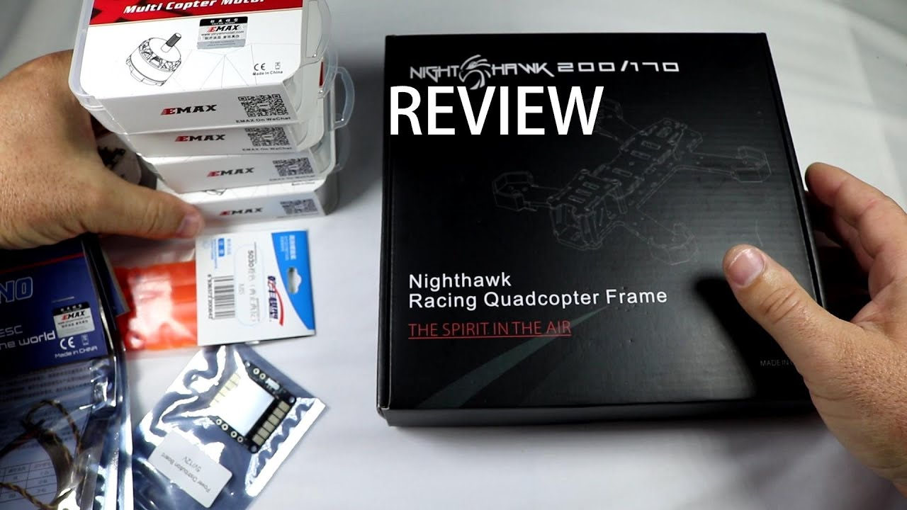 EMAX NightHawk 200 – Pure CF FPV Race Drone – Review [UnBox & Inspection]