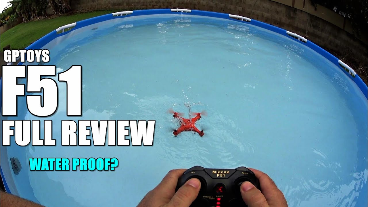 GPTOYS F51 Waterproof Camera Drone – Full Review – [UnBox, Inspection, Setup, Rain Flight/Pool Test]