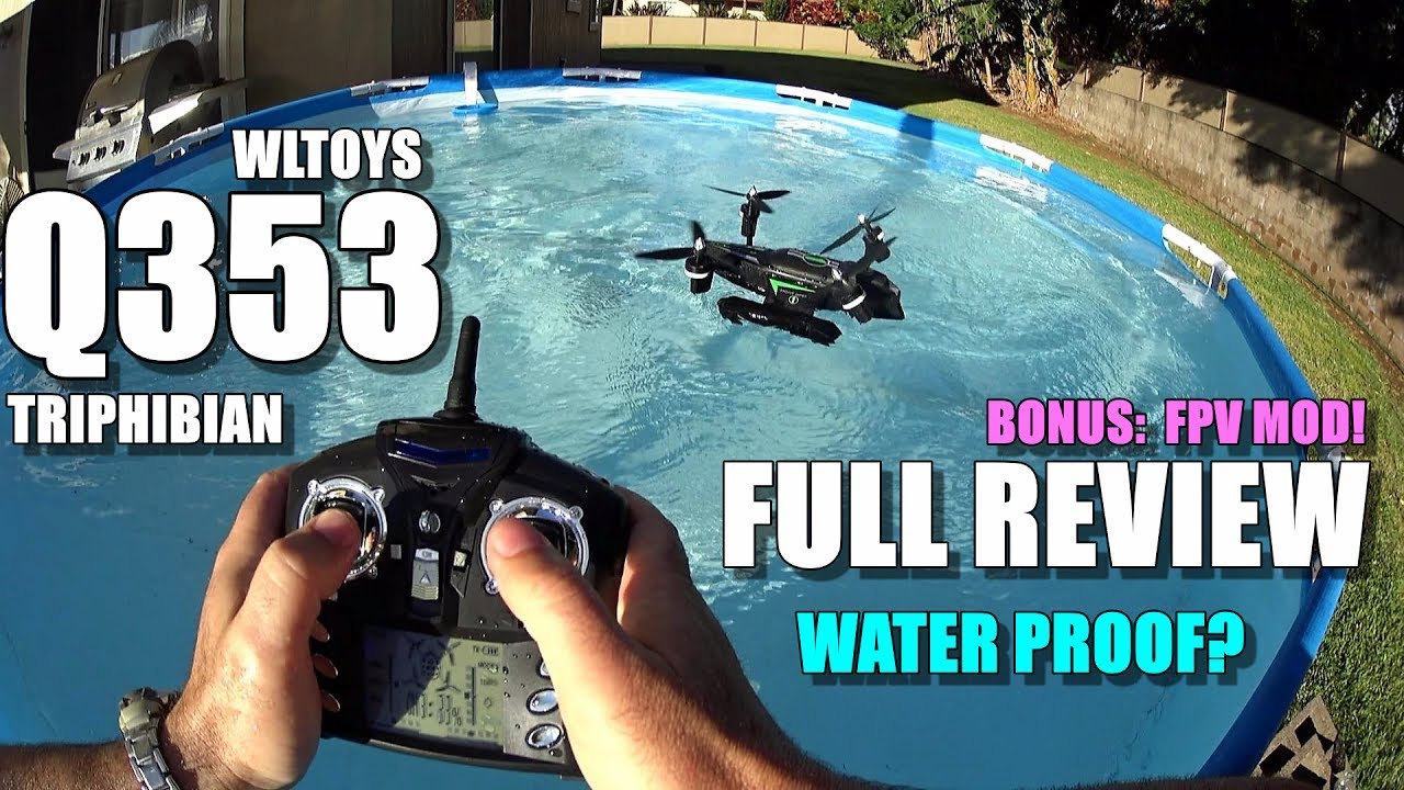 WLTOYS Q353 Triphibian Waterproof Drone – Full Review – [UnBox, Inspection, Flight/Water/FPV Test]