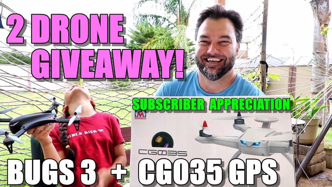 2 DRONE GIVEAWAY! Bugs 3 + Aosenma CG035 (Subscriber Appreciation)
