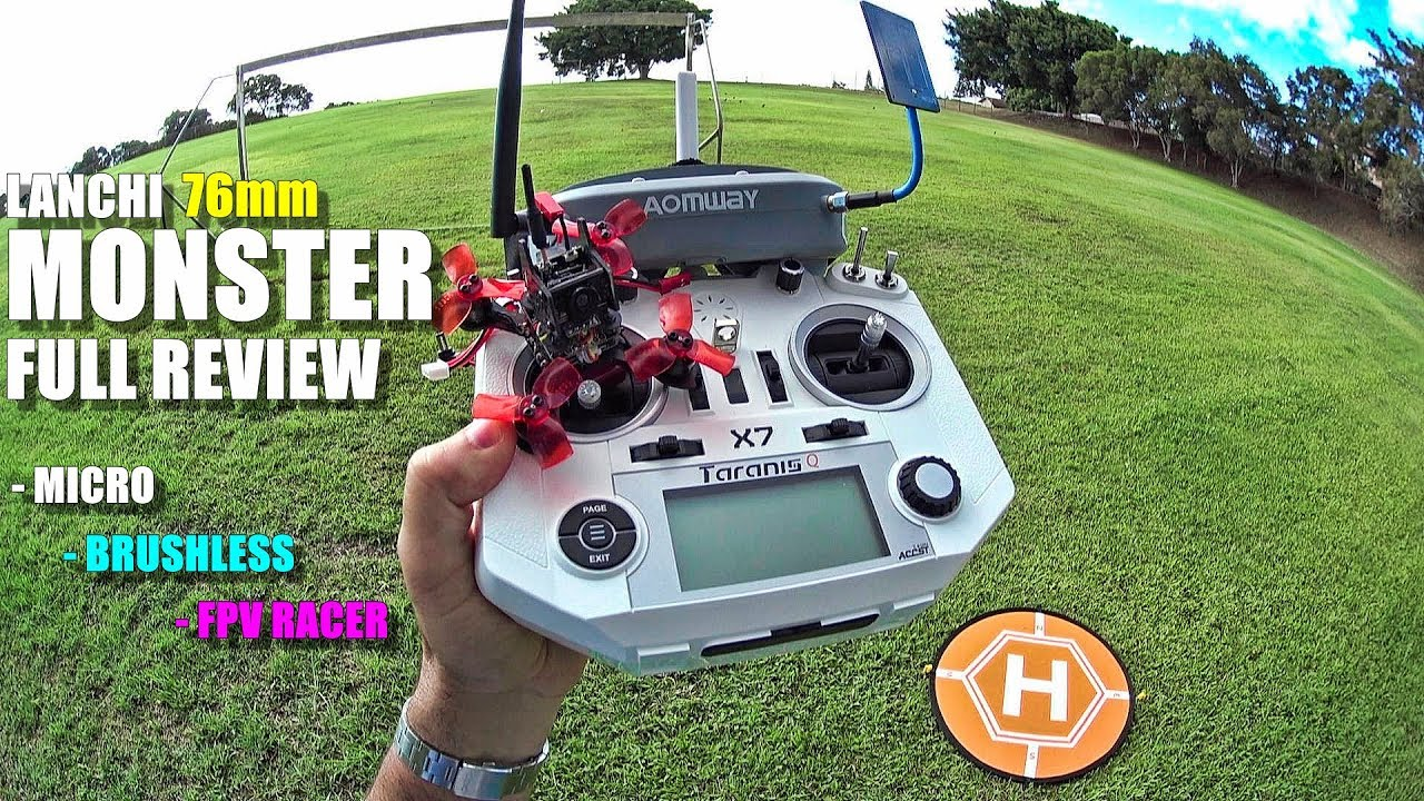LANCHI MONSTER ? 76mm Micro FPV Race Drone – Full Review – [Unbox, Flight/CRASH! Test, Pros & Cons]