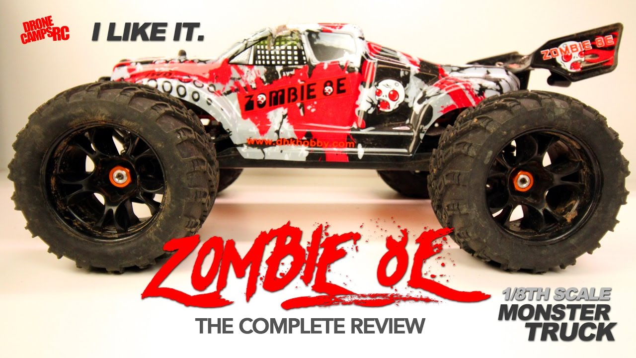 DHK ZOMBIE 8E – 1/8TH SCALE MONSTER TRUCK – Complete Review & BASH!