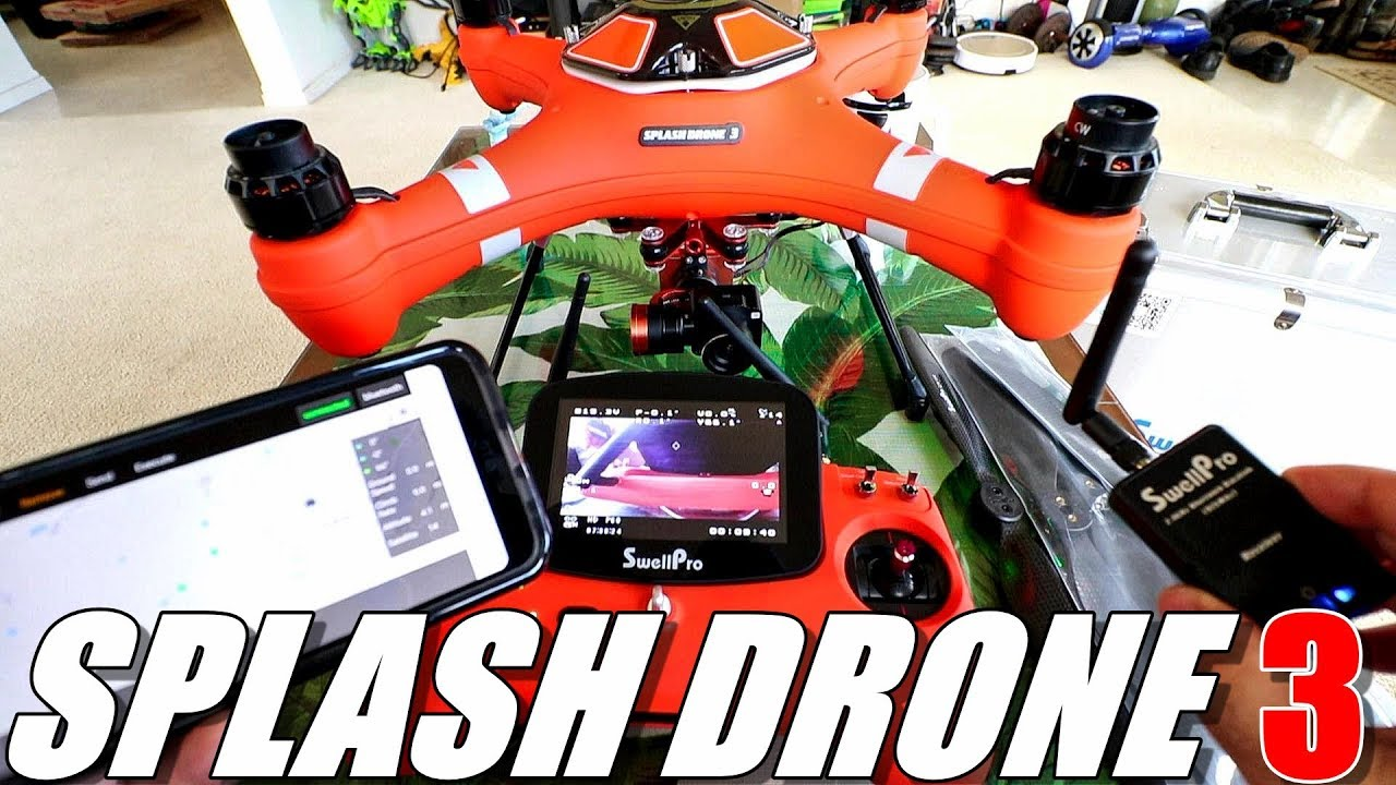 SPLASH DRONE 3 Review – SwellPro's Newest Waterproof Drone – Part 1 – Unboxing, Inspection, Setup