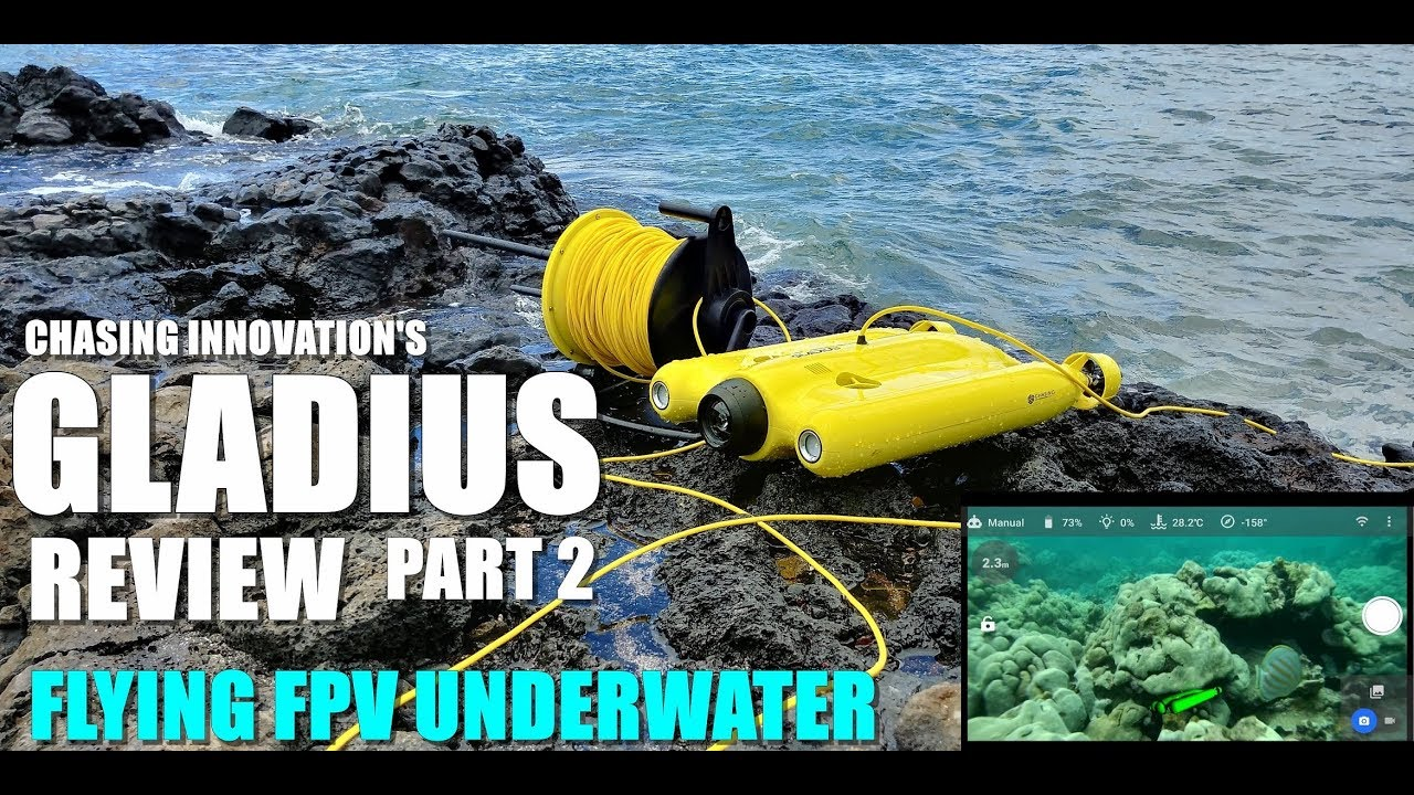 GLADIUS Submersible ROV Drone Review – Part 2 – Flying FPV Underwater – Pilot's View ??