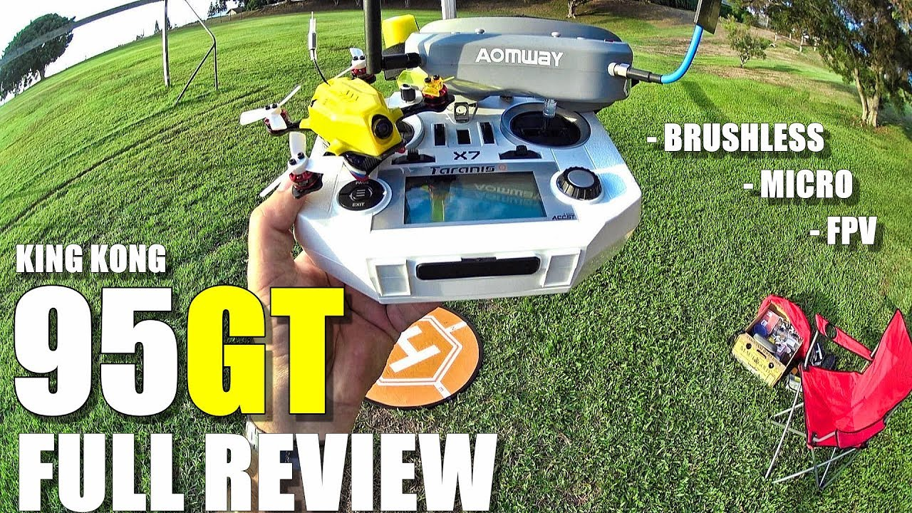 KINGKONG 95GT FPV Racing Drone – Full Review – Unboxing, Inspection, Flight/CRASH! Test, Pros & Cons