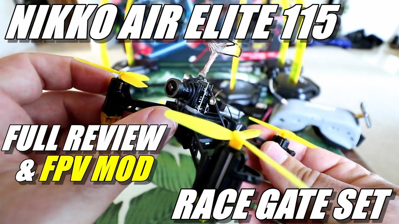Nikko Air Elite 115 Drone Racing Set Review & FPV Mod – Full Review – Unboxing, Flight Test, FPV Mod