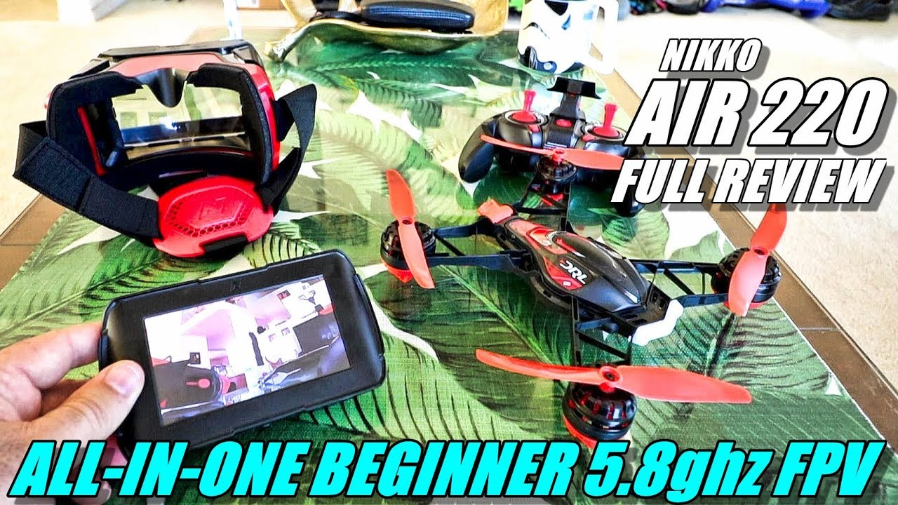 NIKKO Air Race Vision 220 Pro Drone 5.8ghz FPV – Full Review – Unboxing, Flight Test, Pros & Cons