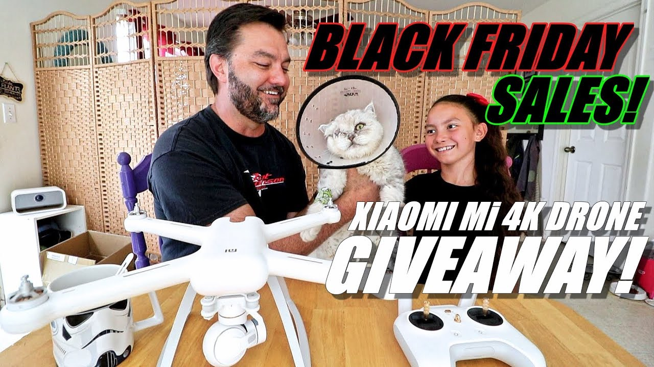 XIAOMI Mi 4K Drone GIVEAWAY! BLACK FRIDAY Deals & Our Cat Lost His Eye!?