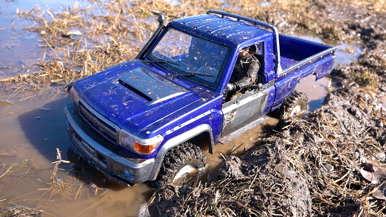 Toyota Land Cruiser LC70 gets MUDDY in CHOCOLATE MiLK! Boom Racing BRX01 | RC ADVENTURES