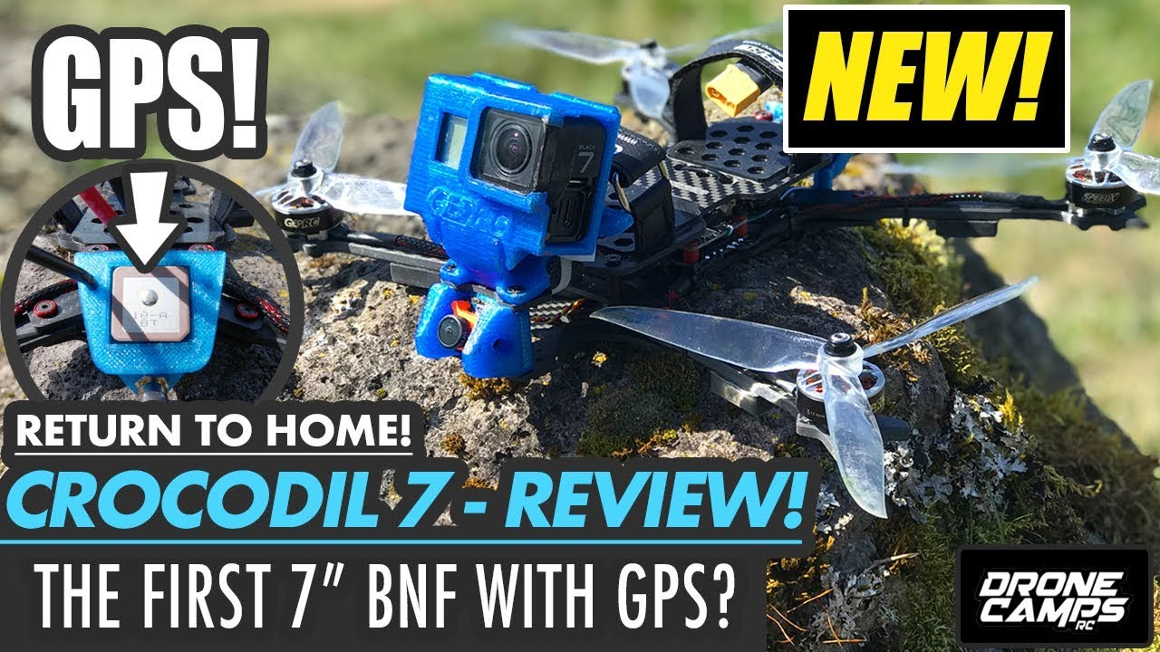 FIRST BNF Quad with GPS? – GEPRC CROCODIL 7 – FULL REVIEW, FLIGHTS, & SETUP