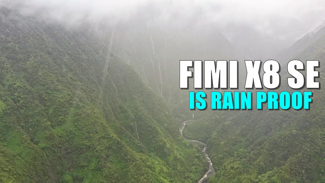 Fimi X8 SE Drone is RAIN PROOF! – 4K Cinematic Waterfalls of Maui Hawaii in the Rain