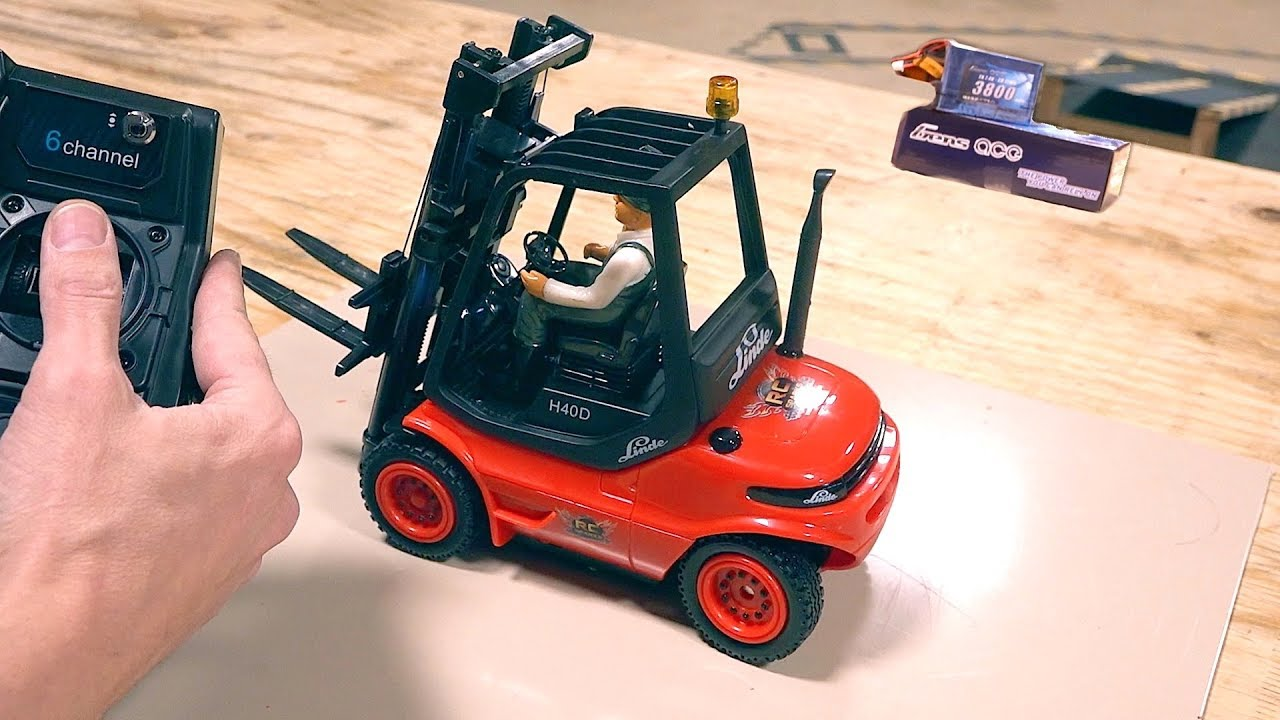 Modifying a 2019 1:14 scale Carson Forklift to fit a GensAce 7.4v Lipo – Linde H40D | RC ADVENTURES
