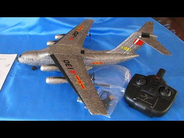 XK A130 Y20 Three Channel RC Transport Aircraft Flight Test Review