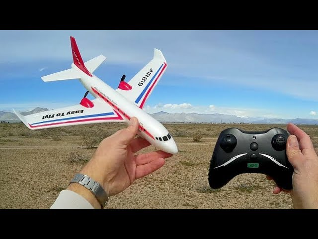 Flybear FX819 Long and High Flying Beginners RC Airplane Flight Test Review