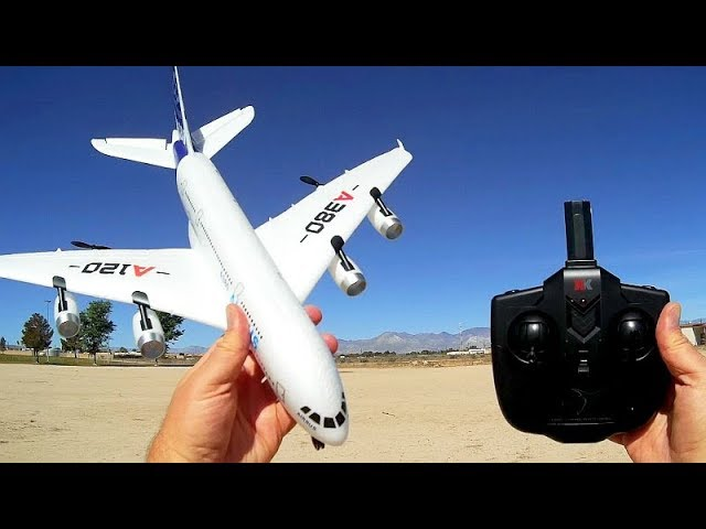 WLToys XK A120 3 Channel RC Flying Scale Model of A380 Airbus Flight Test Review