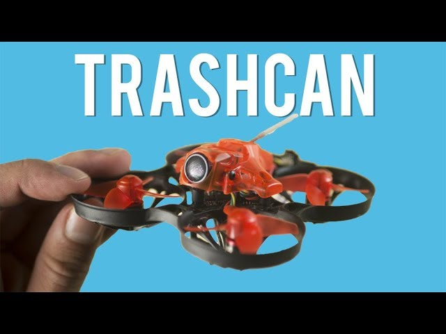 Eachine TRASHCAN 75mm brushless  tinywhoop drone!