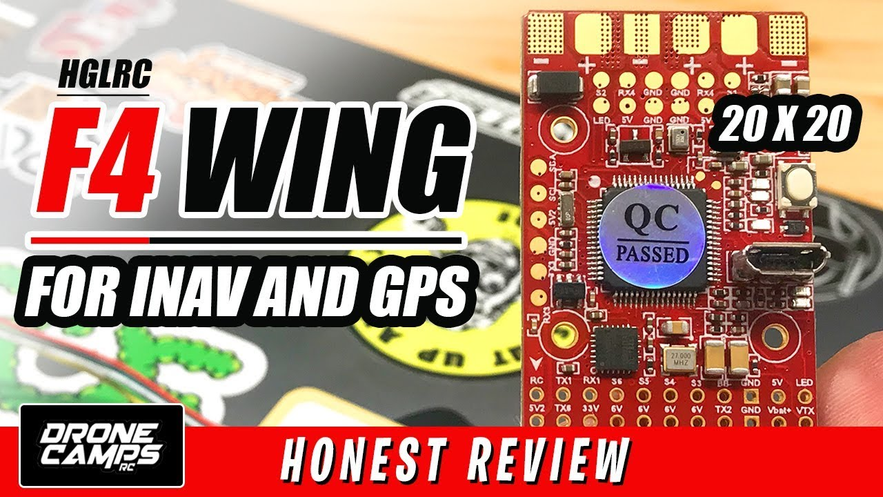 HGLRC F4 WING Flight Controller & GPS – FIRST LOOK & REVIEW