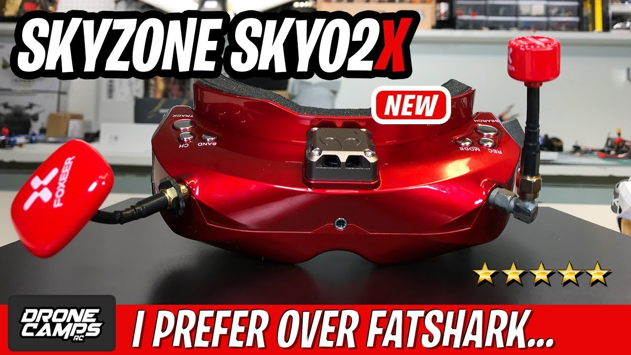 I PREFER THESE OVER FATSHARK – NEW Skyzone SKY02X Fpv Goggles