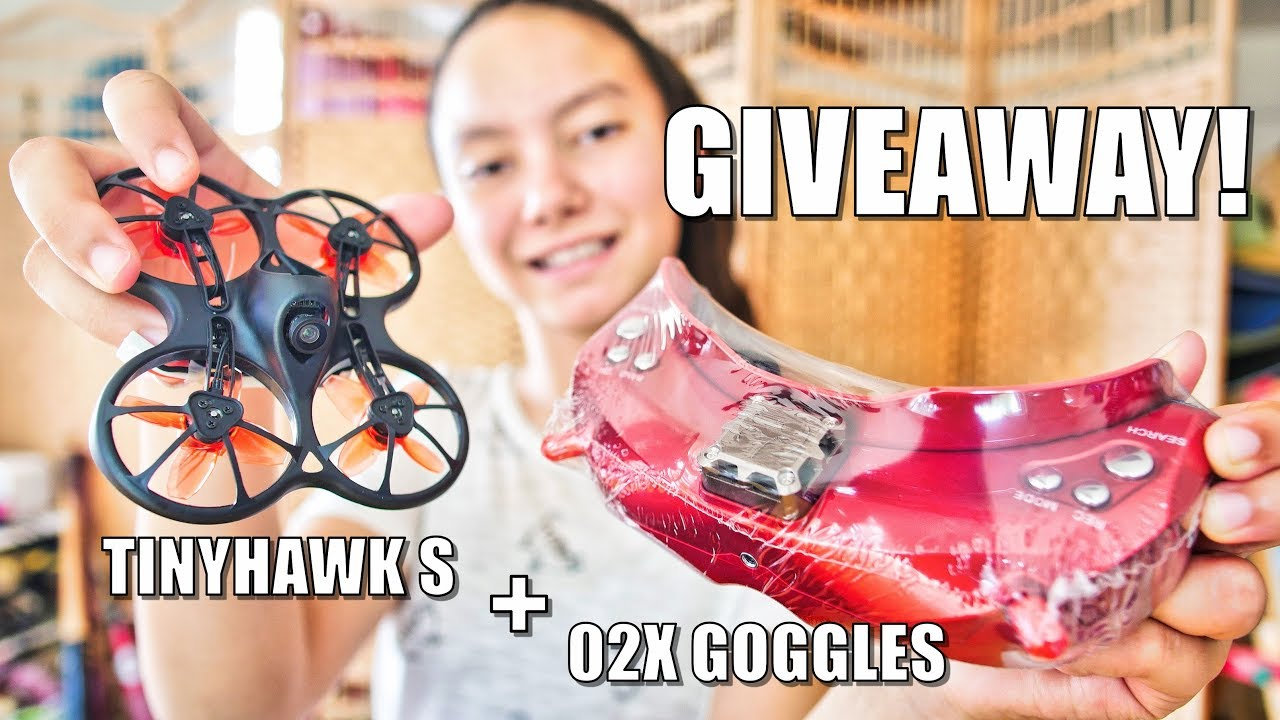 GIVEAWAY! – Emax Tinyhawk S FPV Drone & SkyZone SKY02X Goggles!