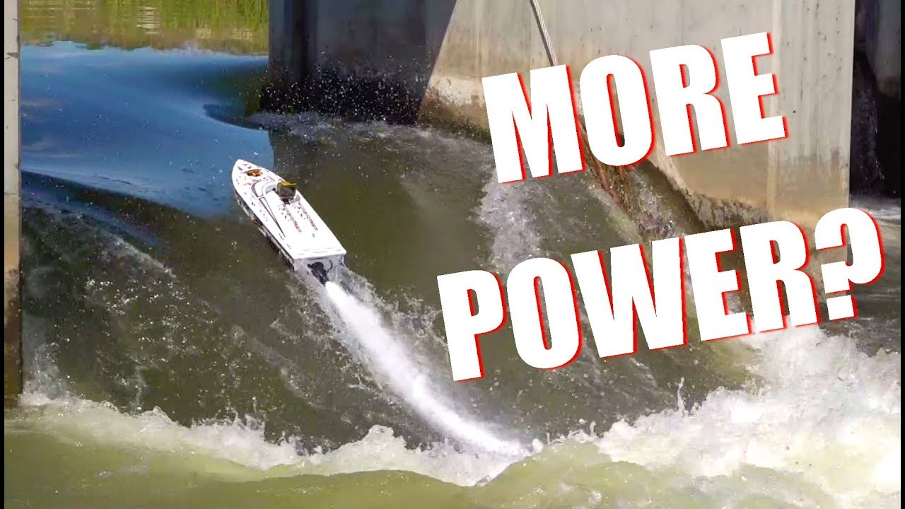 IS there MORE POWER?! Thrasher V3 TACKLES the DAM – Jet Boat Bashing! | RC ADVENTURES