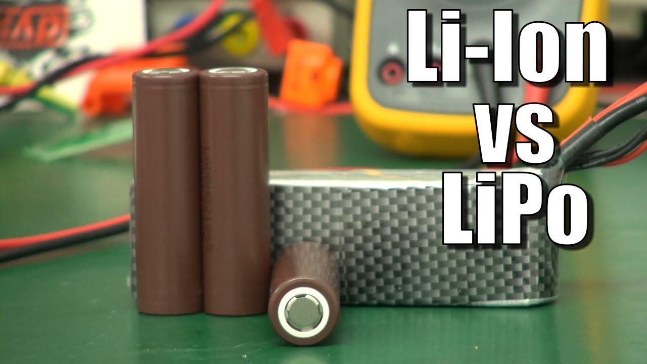 Lithium-Ion (18650 cells) versus Lipo — which is best?