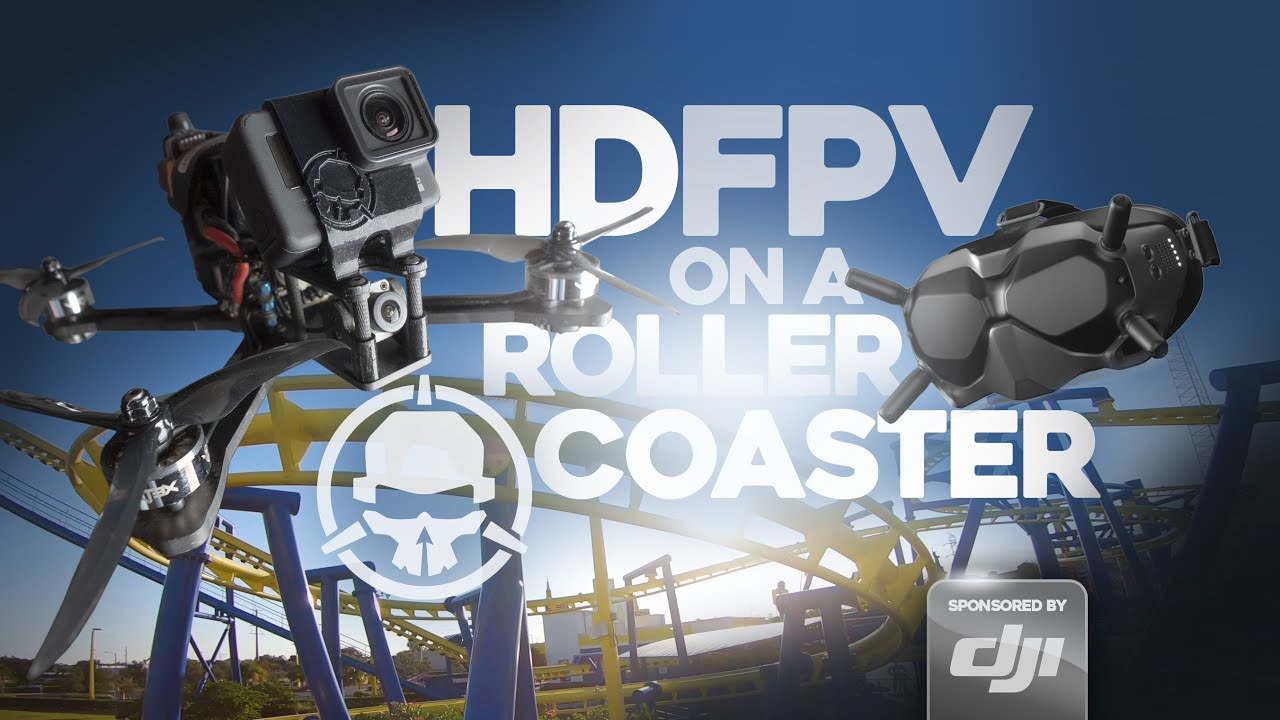 Flying an FPV Drone ON A ROLLERCOASTER